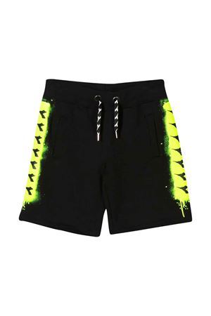Black shorts with elastic waist Diadora junior DIADORA JUNIOR | 30 | 022299110