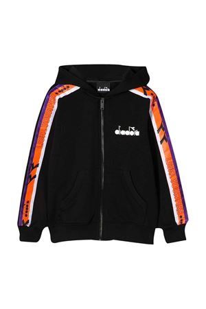 Black teen hoodie with frontal logo Diadora junior DIADORA JUNIOR | -108764232 | 022307110T