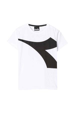 T-shirt bianca con logo frontale DIadora junior DIADORA JUNIOR   8   022308001