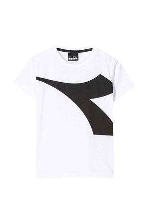 White teen t-shirt with frontal logo Diadora junior DIADORA JUNIOR | 8 | 022308001T