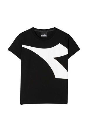 T-shirt nera teen con logo frontale Diadora junior DIADORA JUNIOR   8   022308110T