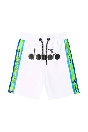 White teen shorts with frontal logo Diadora junior DIADORA JUNIOR | 30 | 022309001T