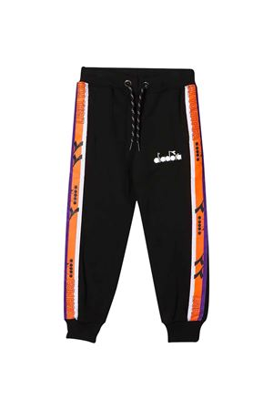 Black teen trousers with frontal logo Diadora junior DIADORA JUNIOR | 9 | 022310110T