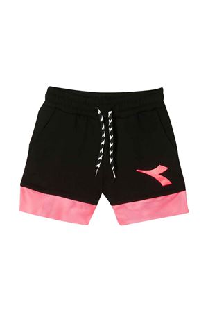 Shorts neri con fascia rosa Diadora junior DIADORA JUNIOR | 30 | 022782110