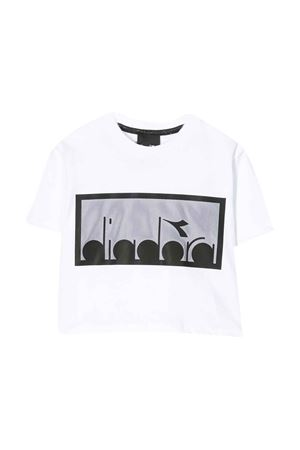 White and black cropped t-shirt Diadora junior DIADORA JUNIOR | 8 | 022784001/01