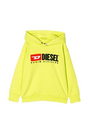 Felpa giallo fluo Diesel kids teen DIESEL KIDS | -108764232 | 00J48G0IAJHK264T