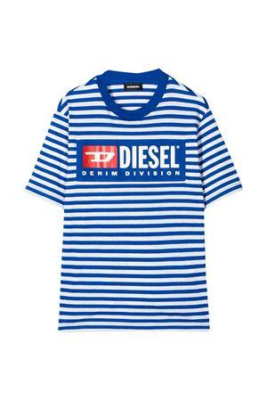 White and blue striped T-shirt Diesel kids  DIESEL KIDS   8   00J4NRKYAQQK89G