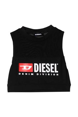 Black teen shirt with frontal logo Diesel kids DIESEL KIDS | 7 | 00J4SV00YI9K900T