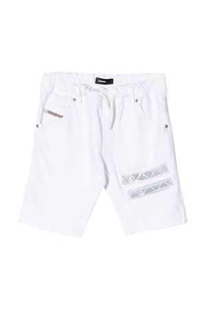 White shorts with silver application Diesel kids DIESEL KIDS | 30 | 00J4V8KXB14K100