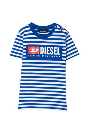 White and blue striped T-shirt Diesel kids  DIESEL KIDS | 8 | 00K246KYAQQK89G
