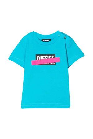 Blue t-shirt with frontal press Diesel kids DIESEL KIDS | 8 | 00K24700YI9K89H