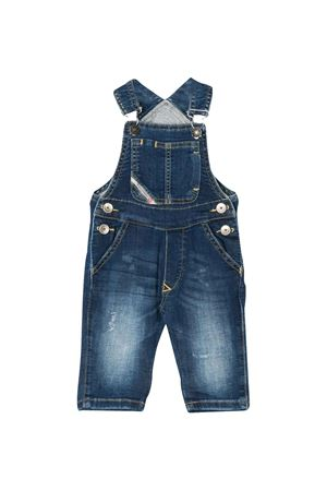 Denim overalls with rear logo plate Diesel kids DIESEL KIDS | 19 | 00K24MKXB3KK01