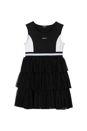 Abito nero con logo DKNY kids DKNY KIDS | 11 | D3273509B