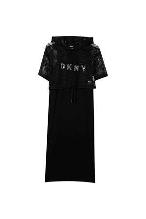 Abito nero con cappuccio DKNY kids DKNY KIDS | 11 | D3273609B