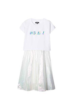 Abito bianco teen con logo DKNY kids DKNY KIDS | 42 | D32748111T