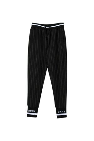 Black trousers with elastic waist DKNY kids DKNY KIDS | 9 | D3497609B