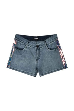 Denim teen shorts with lateral band DKNY kids DKNY KIDS | 30 | D34981Z02T