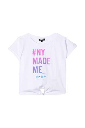 T-shirt bianca teen con stampa frontale DKNY kids DKNY KIDS | 8 | D35Q4909BT