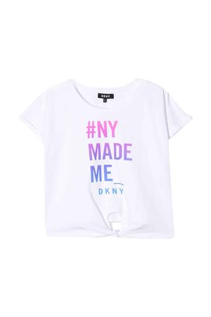White t-shirt with multicolor press DKNY kids DKNY KIDS | 8 | D35Q4910B