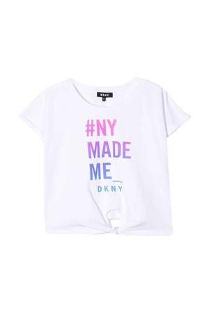 T-shirt bianca teen con stampa DKNY kids DKNY KIDS | 8 | D35Q4910BT