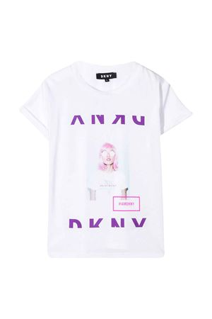 White t-shirt with frontal press DkNY kids DKNY KIDS | 8 | D35Q5310B