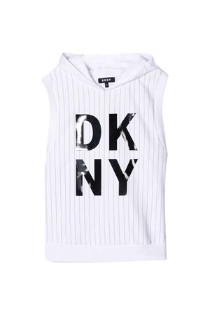 White sleeveless sweatshirt DKNY kids DKNY KIDS | -108764232 | D35Q6010B