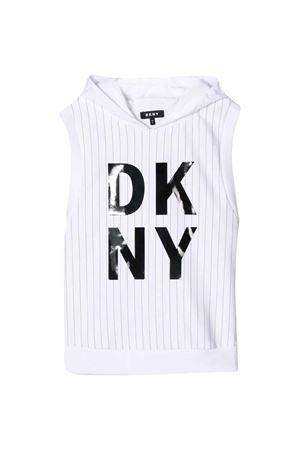 Felpa bianca smanicata teen DKNY kids DKNY KIDS | -108764232 | D35Q6010BT