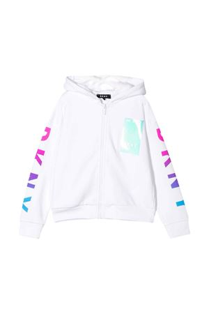 White sweatshirt with hood DKNY kids DKNY KIDS | -108764232 | D35Q6710B