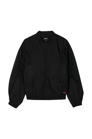 Black bomber with frontal zip DKNY kids DKNY KIDS | 1236091882 | D3661709B