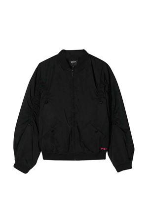 Bomber nero con zip frontale DKNY kids DKNY KIDS | 1236091882 | D3661709B