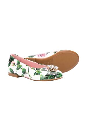 White ballerina shoes with floreal press and application Dolce&Gabbana kids Dolce & Gabbana kids | 12 | D10510AV625HA96C