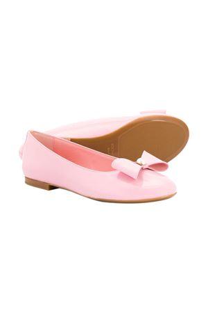 Pink ballerina flats with bow Dolce&Gabbana kids Dolce & Gabbana kids | -216251476 | D10866A132880416