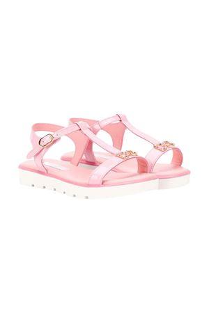 Pink sandals with frontal logo Dolce & Gabbana kids Dolce & Gabbana kids | 5032315 | D10921A132880416