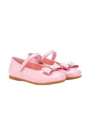 Pink ballerina flats with bow Dolce&Gabbana kids Dolce & Gabbana kids | -216251476 | D20068A132880416