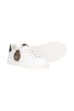 Sneakers bianche con applicazione