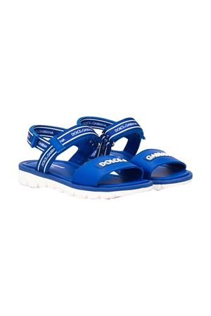 Blue sandals with logo Dolce&Gabbana kids Dolce & Gabbana kids | 12 | DA0789AX1838D600