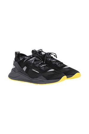 Sneaker teen nere con pannelli a contrasto Dolce & Gabbana kids Dolce & Gabbana kids | 12 | DA0904AX0368B956T