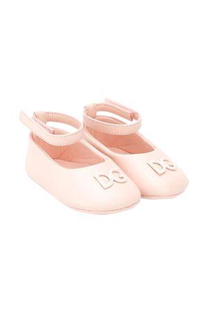 Ballerine rosa con logo e cinturino Dolce&Gabbana kids Dolce & Gabbana kids | -216251476 | DK0065A129380400