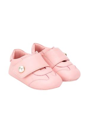 Pink leather sneakers with application Dolce&Gabbana kids Dolce & Gabbana kids | 12 | DK0109A129380416