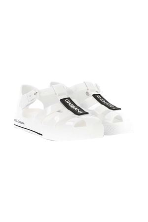 White sandals with black logo Dolce&Gabbana kids Dolce & Gabbana kids | 5032315 | DN0115AK49887578