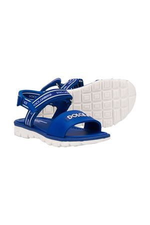 Blue sandals with white logo Dolce&Gabbana kids Dolce & Gabbana kids | 5032315 | DN0139AX1838D600