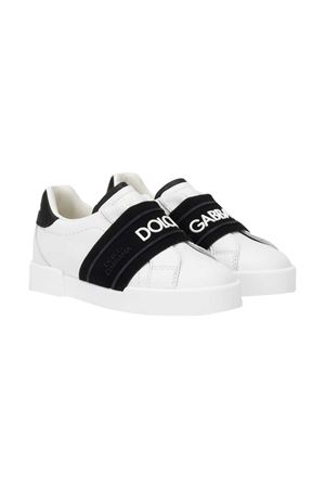White sneakers with black logo band Dolce&Gabbana kids Dolce & Gabbana kids | 12 | DN0140AF5128B926