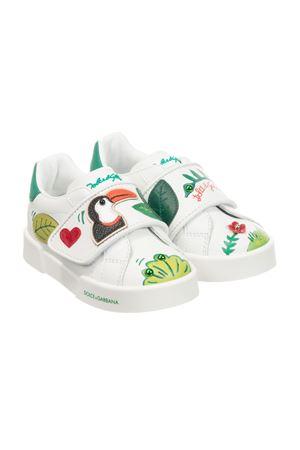 Sneakers bianche con dettagli multicolor Dolce&Gabbana kids Dolce & Gabbana kids | 12 | DN0143AX96280995