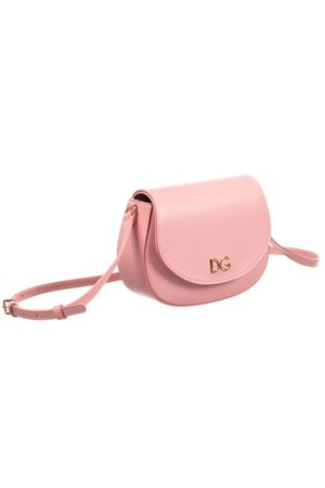 Pink leather handbag with golden details Dolce&Gabbana kids Dolce & Gabbana kids | 31 | EB0212AJ64780470