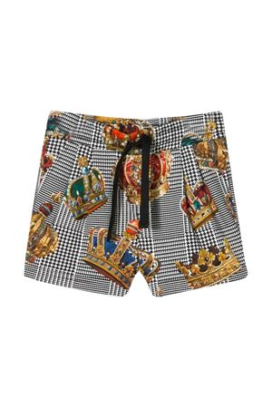 Bermuda shorts with stripes and crowns Dolce & Gabbana kids Dolce & Gabbana kids | 30 | L1JQG5HS7ALHH20E