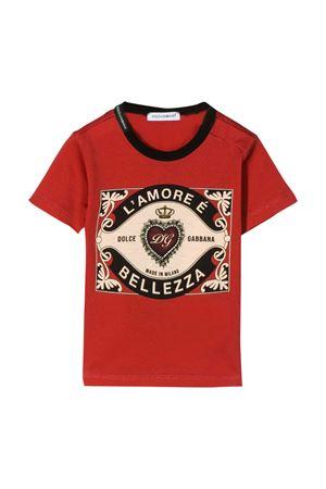 Red t-shirt Dolce & Gabbana kids  Dolce & Gabbana kids | 8 | L1JT6SG7VLOHR1EH