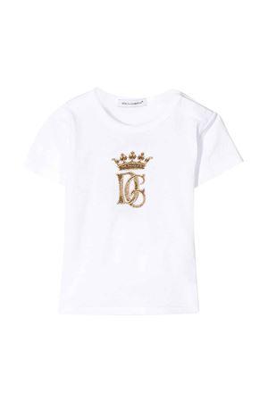 T-shirt bianca con logo oro Dolce&Gabbana kids Dolce & Gabbana kids | 8 | L1JT6SG7WGBW0800