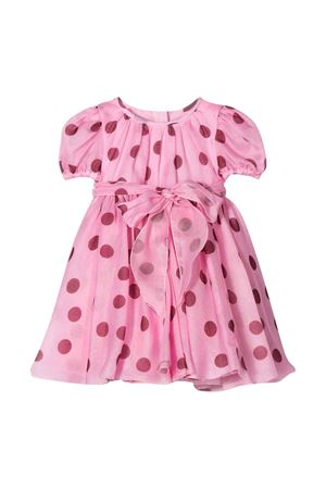 Short pink dress with red polka dots in Dolce & Gabbana Kids silk. Dolce & Gabbana kids | 11 | L22DB5HS19ZHF96R
