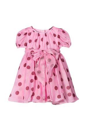 Short pink dress with red polka dots in Dolce & Gabbana Kids silk. Dolce & Gabbana kids | 11 | L22DB5HS19ZHF96R