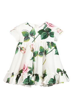 White dress with roses press and coulottes Dolce&Gabbana kids Dolce & Gabbana kids | 11 | L22DG3HS5GGHA96C